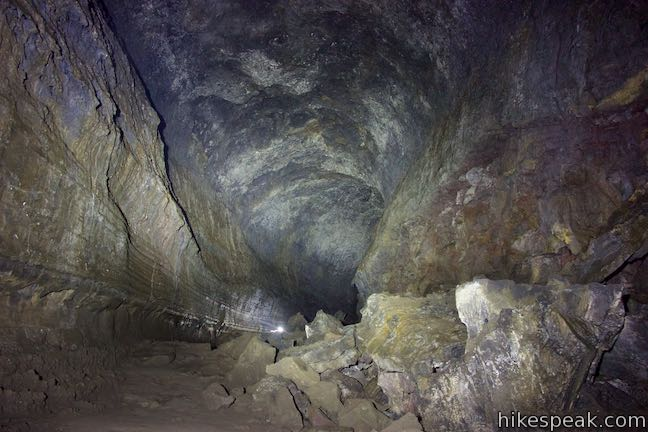 Travel underground to explore a lava tube near Bend.