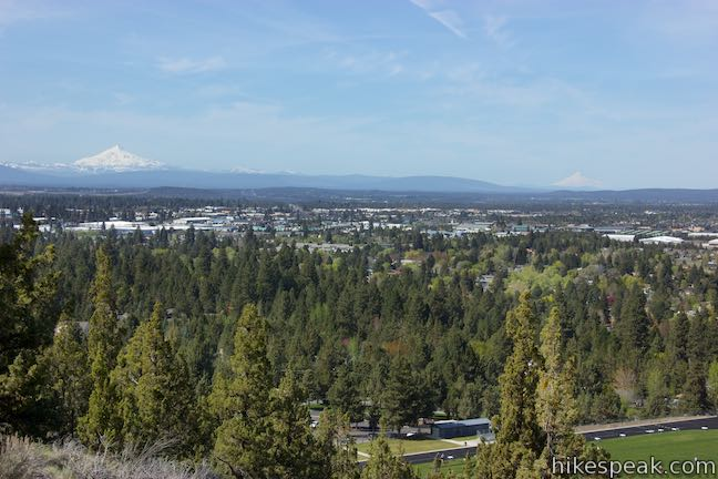 Pilot Butte View Mount Jefferson and Mount Hood