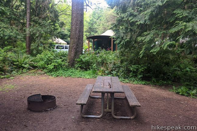 Cape Lookout State Park Campsite and yurt