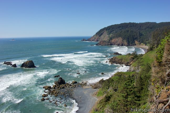 Ecola State Park Oregon Coast Trail View