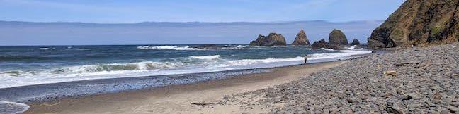 Oceanside Beach to Tunnel Beach Trail Oregon Coast Walk Oceanside Beach State Recreation Site