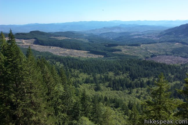 Saddle Mountain Coast Range View