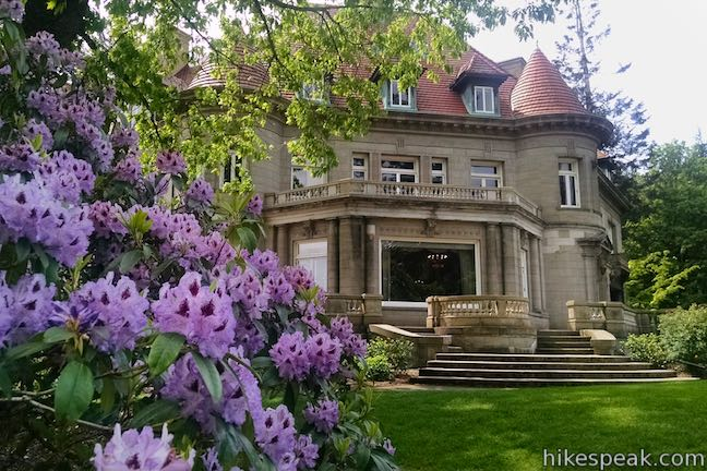This Forest Park hike ascends to a mansion with panoramic views over Portland.