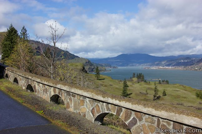 Historic Columbia River Highway State Trail Columbia River View