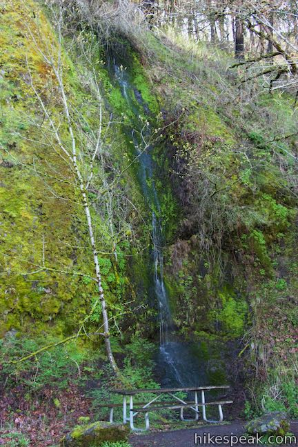Historic Columbia River Highway State Trail waterfall