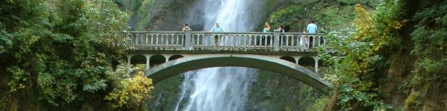 Multnomah Falls Trail Waterfall hike Portland Oregon Columbia River Gorge