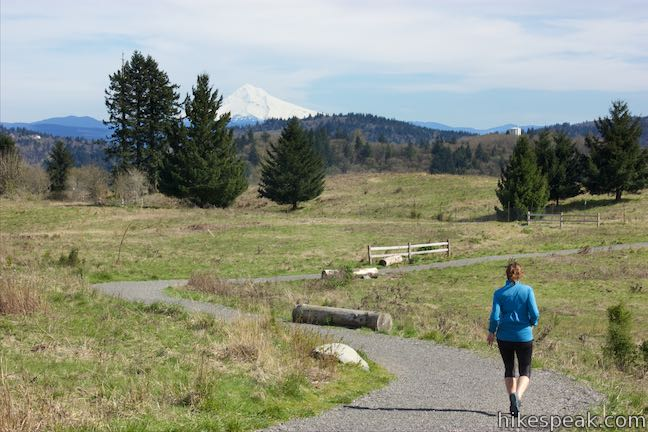 This hike in Southeast Portland tops an extinct cinder volcano with great views of Mount Hood and Mount Saint Helens.