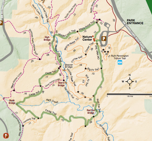 Tryon State Park Loop Hike Trail Map
