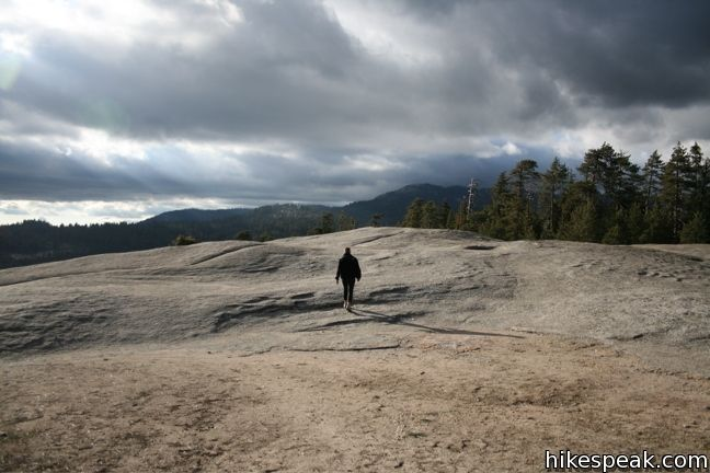 This 2-mile hike visits a large granite dome in the Giant Forest of Sequoia National Park with great views to the west.