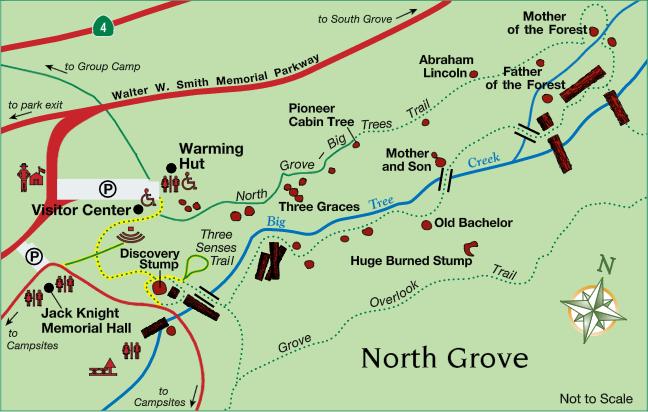 Orange Grove California Map.North Grove Big Trees Trail Calaveras Big Trees State Park