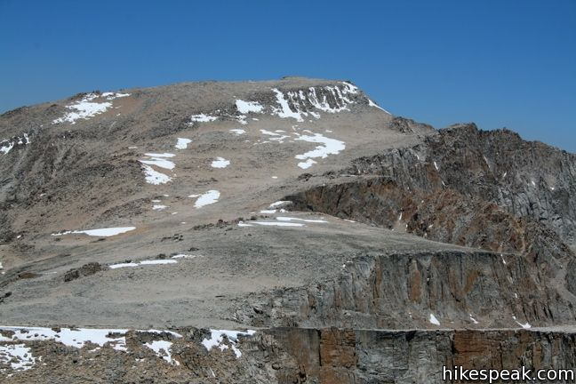 This 22-mile round trip trek travels past Cottonwood Lakes Trail over New Army Pass to a 14,042-foot summit with towering views of the Sierra.