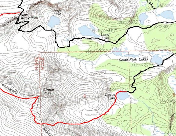 Cirque Peak Trail Map