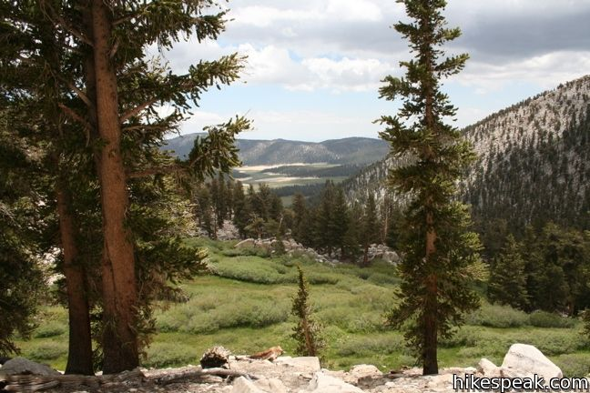This 7-mile round trip trail travels from Horseshoe Meadow to an 11,200-foot pass and a junction with the Pacific Crest Trail, with access to Golden Trout Wilderness and Sequoia National Park.