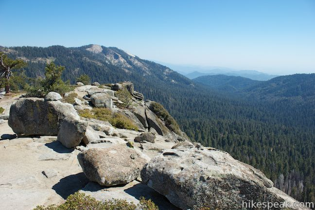 This 2-mile hike reaches a granite summit with 360-degree views over the Redwood Mountain Grove and Kings Canyon.