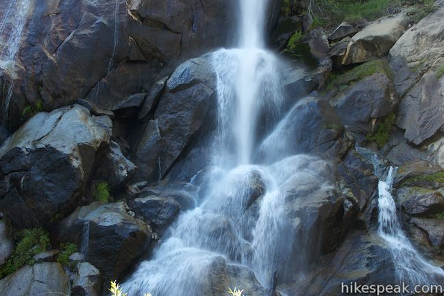 This 0.1-mile stroll at Grizzly Falls Picnic Area in Sequoia National Forest reaches the base of an 80-foot waterfall along the Generals Highway near the Cedar Grove Area of Kings Canyon National Park.