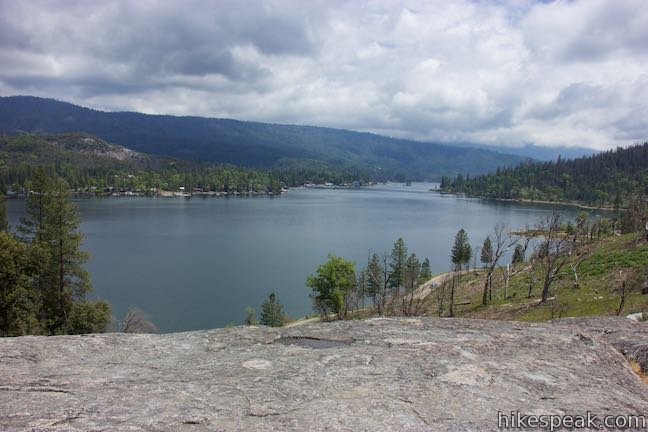 Hike an interpretive loop trail up to a panoramic view over Bass Lake.