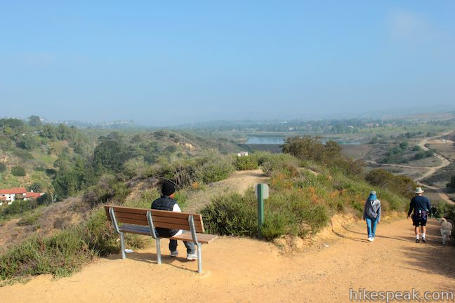 This 3.65-mile loop expands on the 2.7-mile Lake View Loop with a small loop to the high point of Peters Canyon Regional Park.