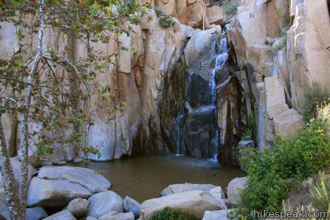 This 1/3-mile round trip hike visits a refreshing waterfall, cascade, and swimming hole off Ortega Highway in the Santa Ana Mountains.
