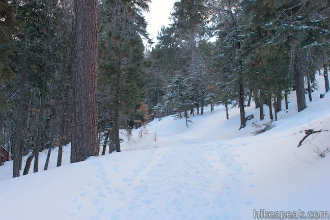 This 2 2/3-mile round trip hike takes a gradual course across the mountains on the south side of Big Bear Lake.