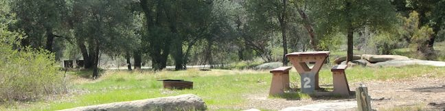 Indian Flats Campground in Cleveland National Forest Warner Springs San Diego County tent camping California