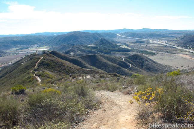 Monserate Mountain Ridge Trail