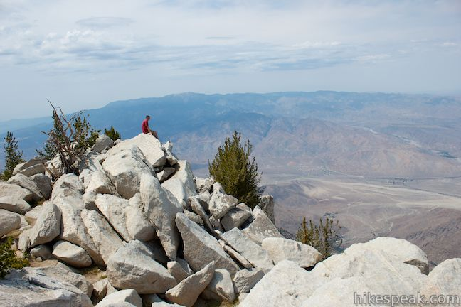 San Jacinto Peak view of San Gorgonio Mountain