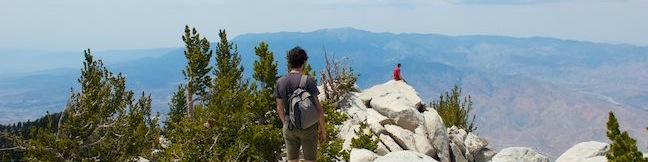 Mount San Jacinto Peak summit hike Marion Mountain Trail Deer Springs Trail San Jacinto Mountains wilderness trek