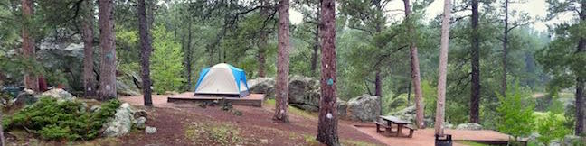 Bismarck Lake Campground Black Hills National Forest South Dakota Camping