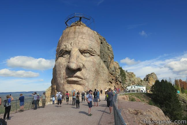 Crazy Horse Memorial Arm and Face