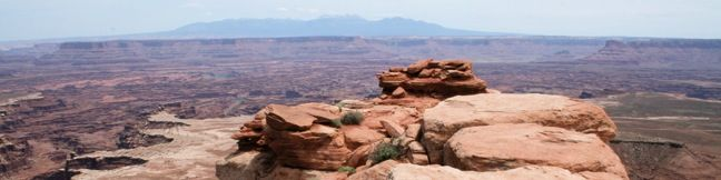White Rim Overlook Canyonlands National Park Utah