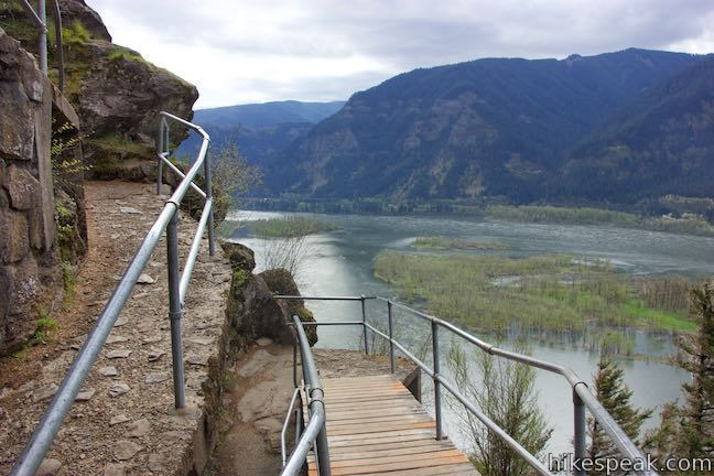 Beacon Rock Trail Columbia River Gorge