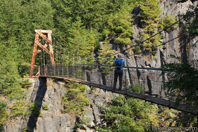 Lava Canyon suspension bridge