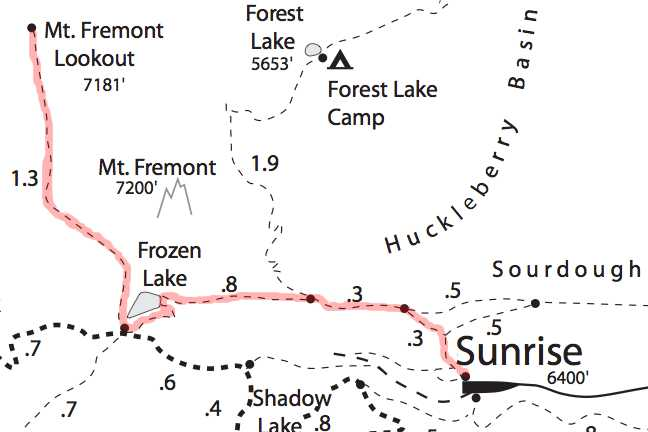 Mount Fremont Trail Map Mount Rainier
