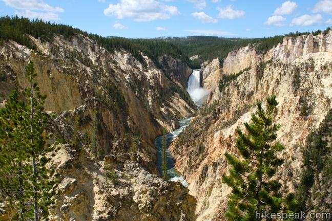 This viewpoint on the Grand Canyon of the Yellowstone delivers one of the most photographed views in the park, a memorable perspective of the 308-foot Lower Falls.