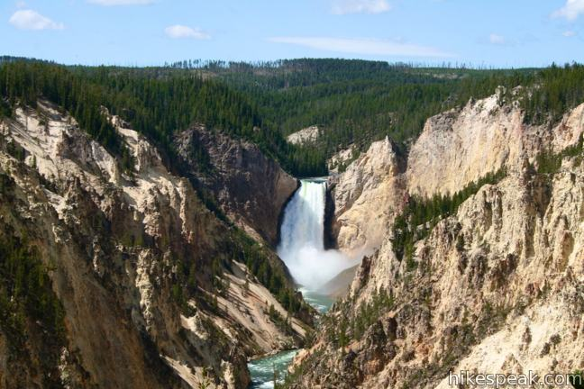 Artist Point on the Grand Canyon of the Yellowstone River in Yellowstone National Park