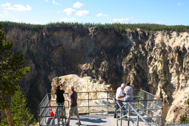 Inspiration Point on the Grand Canyon of the Yellowstone River in Yellowstone National Park