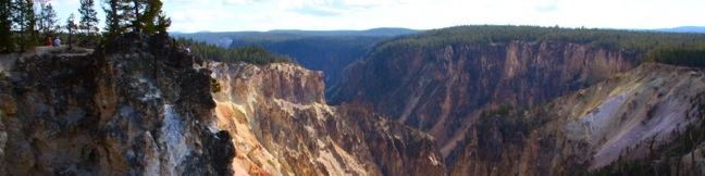 North Rim Trail Grand Canyon of the Yellowstone River in Yellowstone National Park
