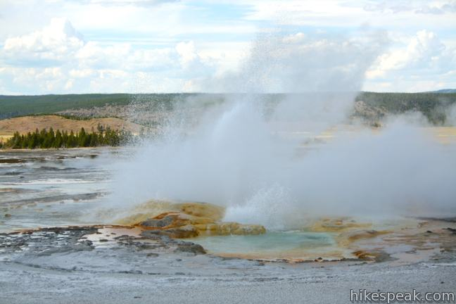 Clepsydra Geyser Lower Geyser Basin Yellowstone