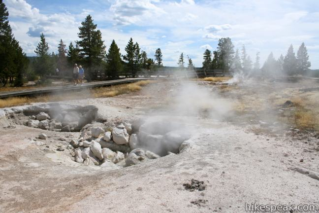 Fumaroles Fountain Paint Pot Yellowstone
