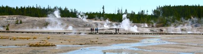 Porcelain Basin Trail Norris Geyser Basin in Yellowstone National Park