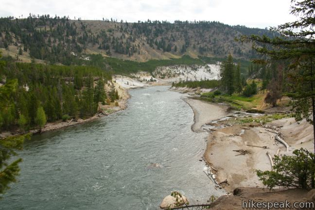Yellowstone River Tower Fall Trail