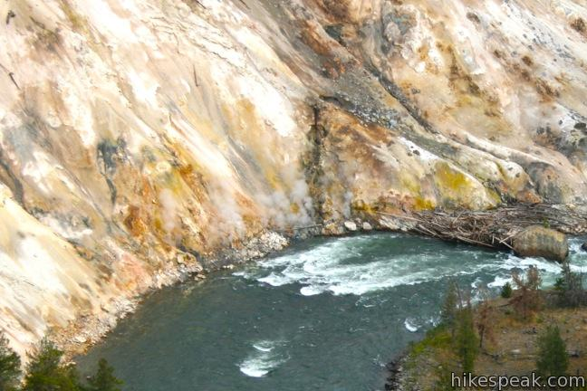 Calcite Springs Overlook Yellowstone River