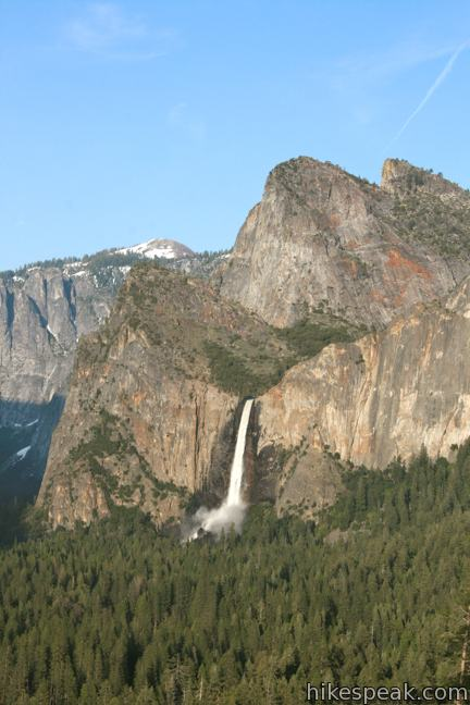 Bridalveil Fall from Tunnel View Yosemite