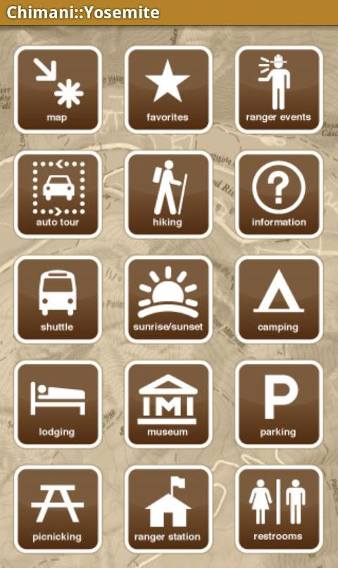 Chimani Yosemite National Park app