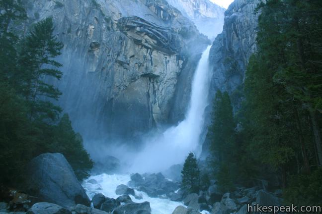 This 1.2-mile loop takes visitors to the base of the tallest waterfall in North America, an electrifying Yosemite National Park feature.