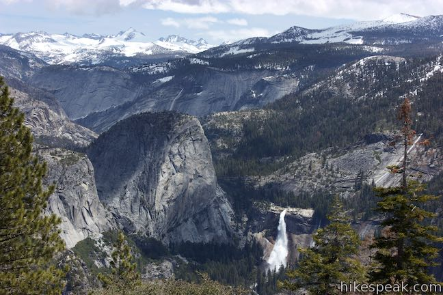 Glacier Point View Nevada Fall Liberty Cap
