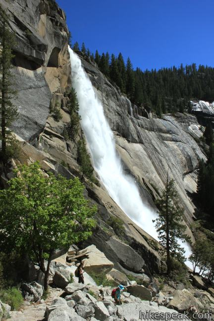 The Mist Trail alongside Nevada Fall