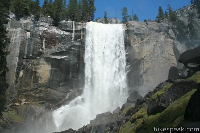 The Mist Trail to Vernal Fall and Nevada Fall in Yosemite National Park