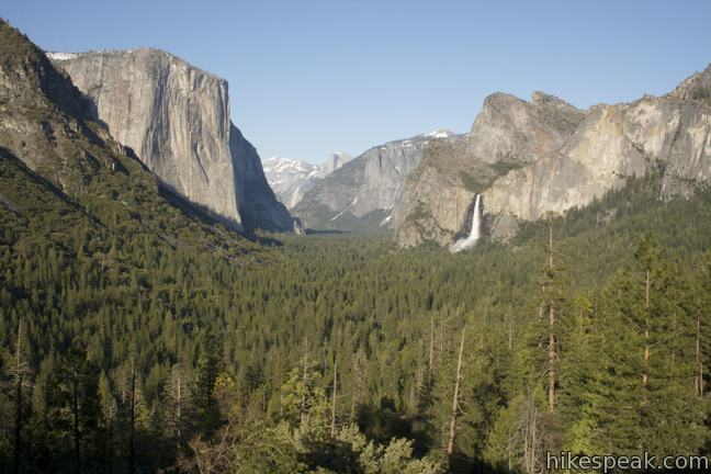 Pull the car over at this extraordinary must see viewpoint looking up Yosemite Valley.