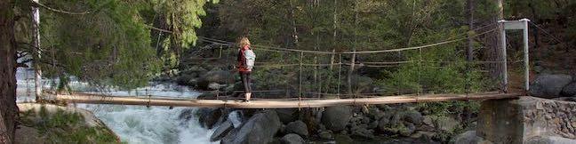Wawona Swinging Bridge Trail Yosemite National Park Bridge Hike South Fork Merced River Swimming Hole Wawona California